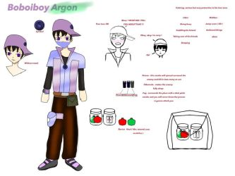 Boboiboy Argon ( galaxy ) by Manahan-Aundrey