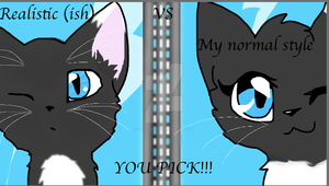 Realistic (ISH) Vs Normal style by Bindiluckycat