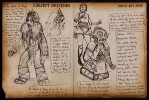 2014 OCT Concept Sketches 6 - Two Rejects by RobinRone