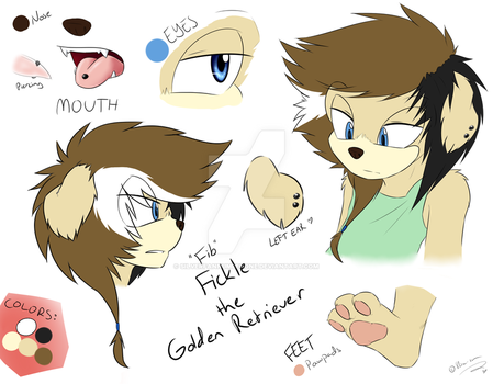 .:Character Preview Ref:. Fickle the Dog by SilverfanNumberONE