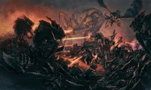 Warhammer 40,000 Tyranids and Sisters Battlescene by Art--Tool