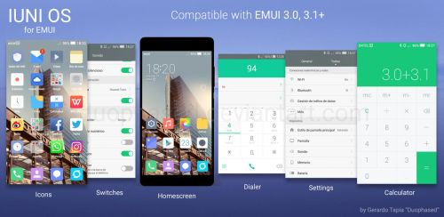 IUNI Theme for EMUI by Duophased