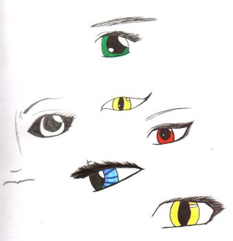 eyes and eyes and eyes and oh look, a partial face by the-alchemy-of-me