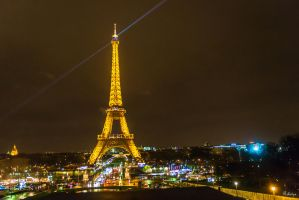 Paris the city of lights - rain and night all over by Rikitza