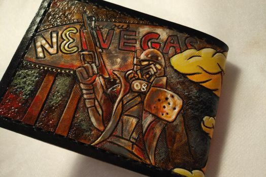 Fallout Dogmeat custom order leather wallet 2 by Bubblypies