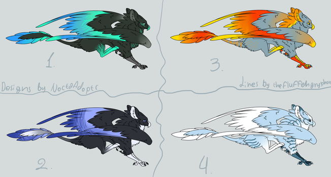 Gryphon adoptables - CLOSED by NoctaAdopts