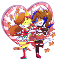 Candy Cane Ginger Bread by CuteyTCat