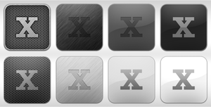 Psd greyscale icon templates by gorganzola1
