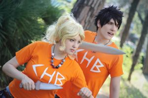Heroes Of Olympus ~ Percy and Annabeth by Yamato-Leaphere