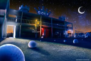 Golf by night by fstarno