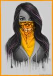 Masked Girl - Orange by Bomu
