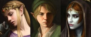 Baroque Zelda Closeups by astoralexander