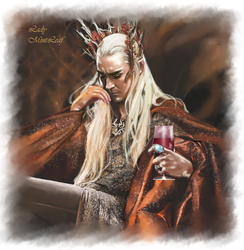 Thranduil - hidden thoughts by LadyMintLeaf