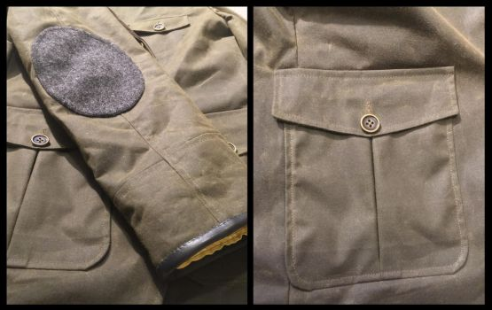 Waxed jacket details by TimeyWimey-007
