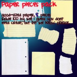 paper pieces stock by ali-is-colourful