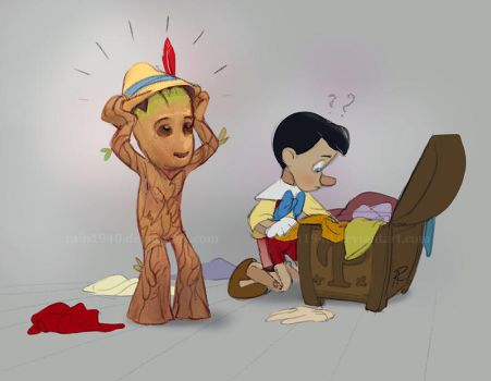 Troublesome  little wooden brother by rain1940