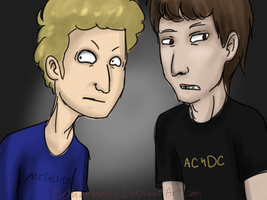 Beavis and Butthead Scribble by Detharmonics