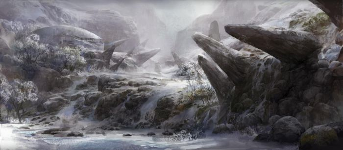 snow and rock by molybdenumgp03