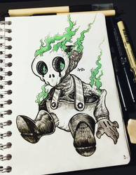 INKTOBER'18 - #3 - Roasted by hubertspala