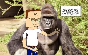 hank hill harambe memorial by HankPropaniac57