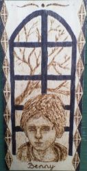 Benny - character from my novel with pyrograph by TamaraFaith