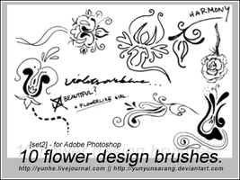 10 flower design brushes by yunyunsarang