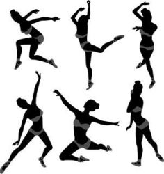 Dancing girl silhouette by webdesigncreatives