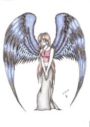 winged girl by Nuka4ever