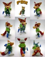 Super Smash Bros Fox Sculpture by Daimyo-KoiKoi