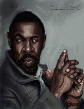 Idris Elba as Luther by DevonneAmos