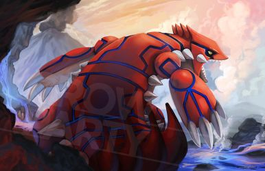 Groudon by CrowParty