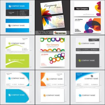 Business Card Templates Vector Pack Free by 123freevectors