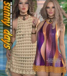 Sunny Days for dForce T-Bar Dress by cosmosue