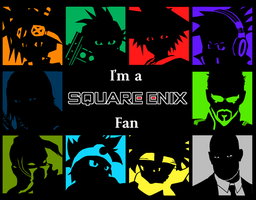 Square Enix -I'm a Fan- Wallpaper series by spdy4
