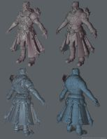 Arena Net Art Test 2012 Low Poly and Normals by Alemja