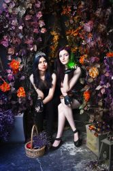 Mal and Evie (Descendants) by ForsakenWitchery