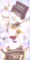 [Art Trade] Rayman and The Land of Music by Dragon-RainbowBeanie