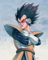 Vegeta watercolor by Trunnec