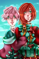 [OC-tober] Rosaire and Syrille by MikomiKisomi