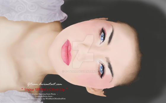 SnowWhite digital painting by G-Team
