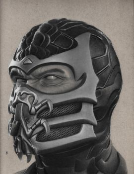 Scorpion Drawing by hg-art