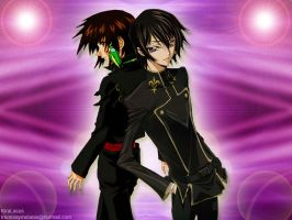 Kira and Lelouch by KiraLacus