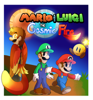 Mario and luigi: Cosmic Fire by BaconBloodFire