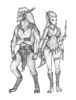 Realms of Aundora: Feraling Pair by s0ulafein