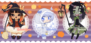 Halloween Magical Girl Adopts [SOLD] by Beedalee-Art