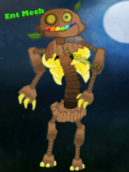Ent Metch (Fan Made My Singing Monsters Character) by TrashCraftpayer