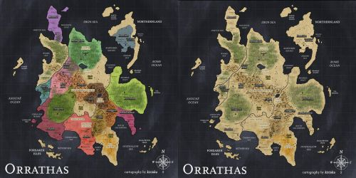 Commission - Orrathas Map by Kiriska