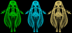 MMD Blue, Green and Orange Wire Shaders DL by ChestNutScoop