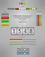 UI Elements Vol.1 by Tooschee