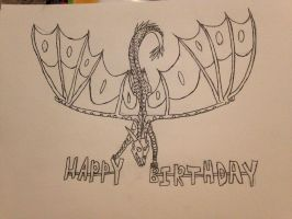 Friend's Birthday Gift Outline On Paper by FlamingGatorGirl